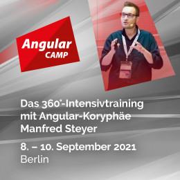 Das erste Angular Camp vor Ort! Mit Koryphäe Manfred Steyer ist der Einstieg in Angular im September leicht gemacht
