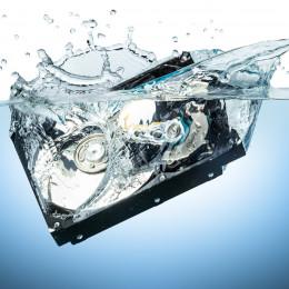 Datenrettung bei Wasserschaden nach Unwetter / Hochwasser
