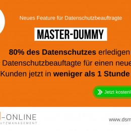Datenschutzsoftware DSM-Online mit neuem Feature